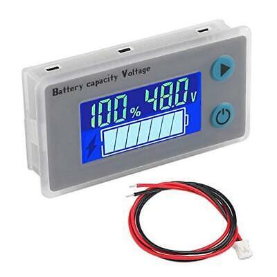 10-100v Battery Monitor Lcd 12v 24v 36v 48v Digital Battery Capacity