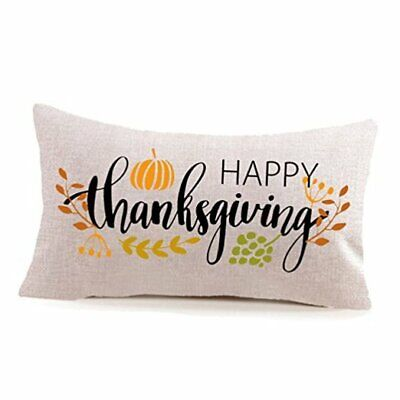 Happy Thanksgiving Day Fall Decor Pumpkin Pillow Covers,Thanksgiving Gifts Cott