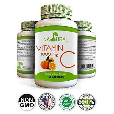 Vitamin C 1000mg 100 CAPS Support Immune System 1000 mg EXP 06/22...