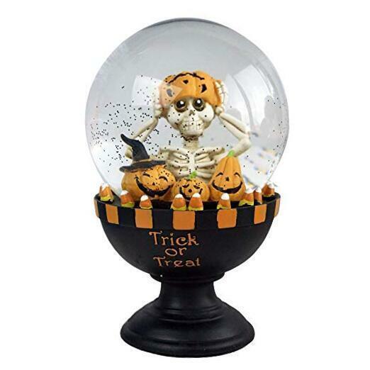 Halloween Snow Globe Skull Human Skeleton Pumpkin LED Lighted Battery for