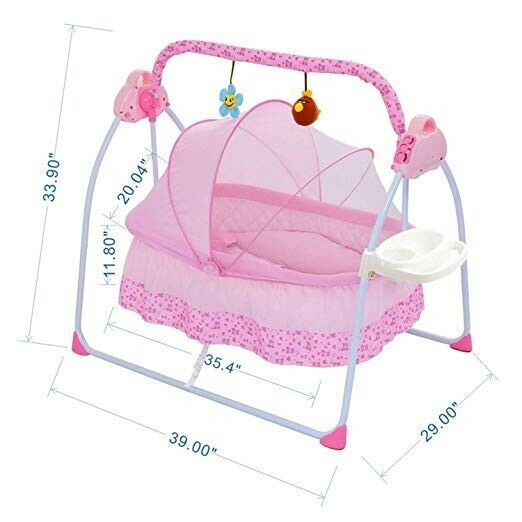 Baby Swing Cradle, Baby Bassinets Swing Crib for Boys and Gi