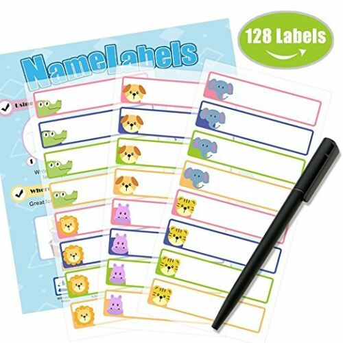 Glossy-White 50 custom name stickers school children Officer recommended items