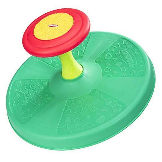 Sit 'n Spin Classic Spinning Activity Toy for Frustration-Free Packaging