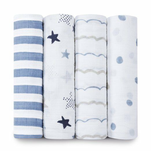 aden + anais Classic Swaddle Baby Blanket, 100% Cotton Musli