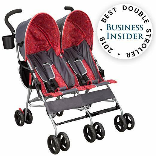 Children Side By Side Stroller For Twins Lightweight Cocheci
