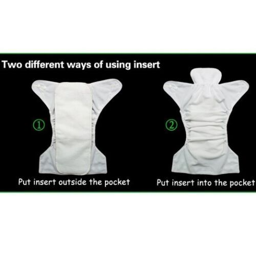 Купить Unbrand diapers+inserts(diapers in same color 	) - 5 Diapers+ 5 INSERTS Adjustable Reusable Lot Baby Washable Cloth Diaper Nappies