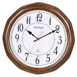 TXL Wood Wall Clock, 12 Battery Operated Non Ticking Large Digital Mantel Hard