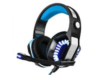 LED gaming Headset, Bovon Headphones, Noise Cancelling, Microphone Volume Control, NEW