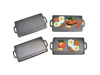 NEW cast iron grill plate indoor and outdoor use