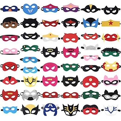 50pcs high quality felt Kids Superhero Mask Party Fancy Dress Costume Props ](Masquerade Costume Kids)
