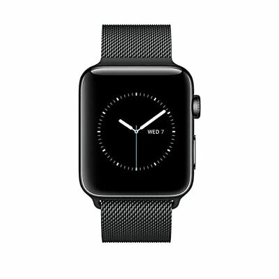 Apple Watch Series 2, 38mm Space Black Stainless Steel Case with Space Black