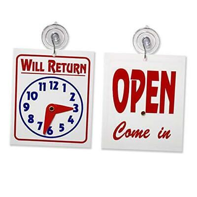 Double Sidedwill Return Clock Andopen Come In Sign With Adjustable 1 Unit