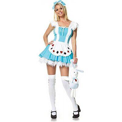 Leg Avenue Alice-Kostüm 3-teilig, 1 (3 Stück Kostüme)