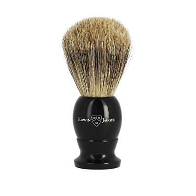 EDWIN JAGGER Best Badger Imitation Ebony Medium English Shaving Brush