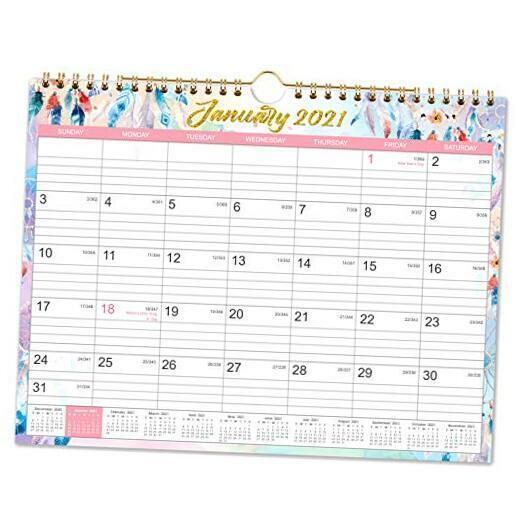 Calendar 2021-2022 - Monthly Wall Calendar 2021-2022 with Julian Date, Small