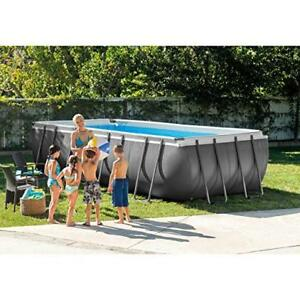 "Pool - Intex Rectangular Above Ground 12' x 24' x 52"" Deep."