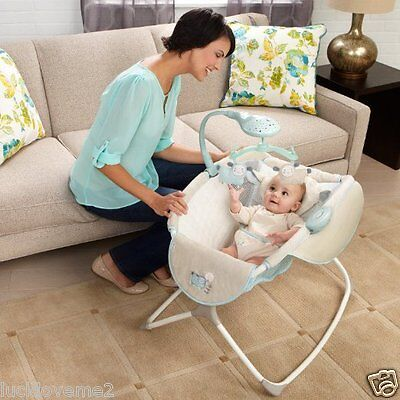 Rocking Baby Sleeper Bassinet Cradle Newborn Infant Crib Bed Nursery Basket Star