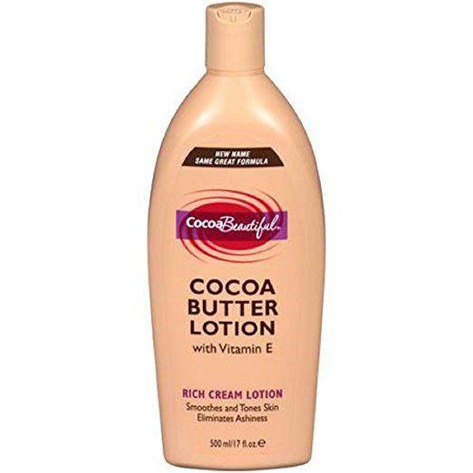 Cocoa Beautiful Cocoa Butter Lotion with Vitamin E 17 Fl oz.