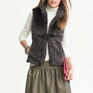 BANANA REPUBLIC (FAUX) FUR VEST sz XL
