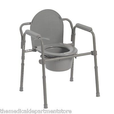 Drive Heavy Duty Adult Bedside Commode Chair Seat Safety Toilet Bathroom Bestdealer