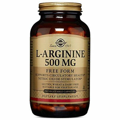 Solgar L-Arginine 500 mg 250 Vegetable Capsules
