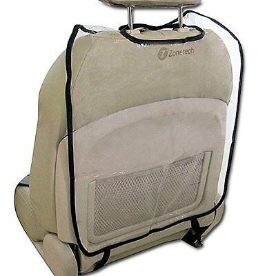Zone Tech  Clear Car Seat Back Protectors for Children Babies Dogs Keeps Clean