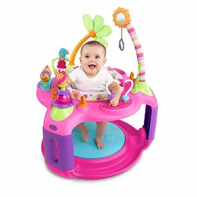 Girls Baby Bouncer Adjustable Activity Rotating Jumper Infant Toy Learning Seat