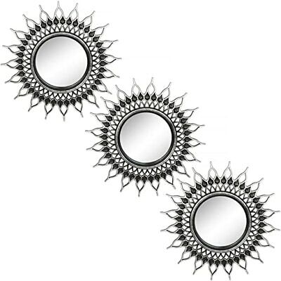 Small Round Mirrors for Wall Decor Set of 3 for Bedroom, Living Room,Dining Room
