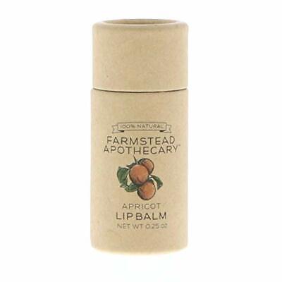 - Farmstead Apothecary 100% Natural Lip Balm, Apricot, 0.25 oz