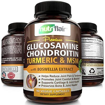 Premium Glucosamine Chondroitin Turmeric Msm With Boswellia   Complete Joint