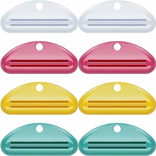 8 Pcs Plastic Tube Squeezer Toothpaste Dispenser Holder Rolling Bathroom Extract Bath