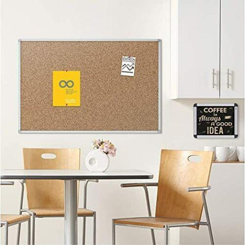 Corkboard, Framed Bulletin Board, 3