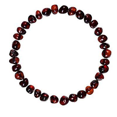 """Baltic Amber Bracelet / Anklet for Women, Men & Adults (Unisex - Cherry - 7.5"""")"""