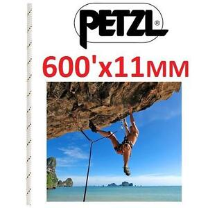 NEW PETZL 11MM VECTOR ROPE 600' - 117293792 - WHITE STATIC ROPE