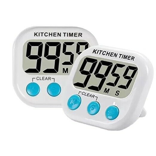 Large LCD Digital Kitchen Cooking Timer Count Down Up Clock Loud Alarm Magnetic Home & Garden