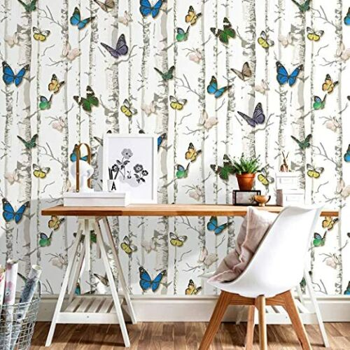 """Peel and Stick Wallpaper Removable Butterfly Self Adhesive Roll 17.7"""" x 9.8 Feet"""