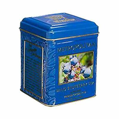 Wild Blueberry Black Tea 24 TBG  in Decorative Tin by Metropolitan Tea -