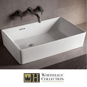 NEW WHITEHAUS ISABELLA VESSEL SINK - 128691065 - WHITEHAUS COLLECTION SINKS BASIN BASINS OFFSET LEFT DRAIN BATH BATHR...