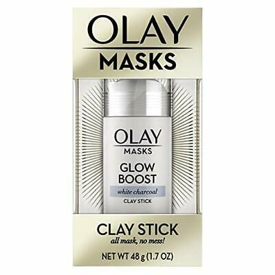 Face Masks by Olay, Clay Charcoal Facial Mask Stick, Glow Boost White Charcoal,