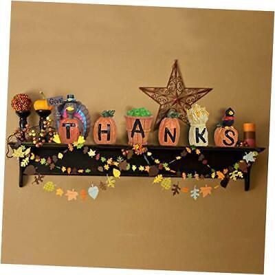 6PCs GiveThanks Thanksgiving Home Decoration Blocks Turkey Signs Figurine