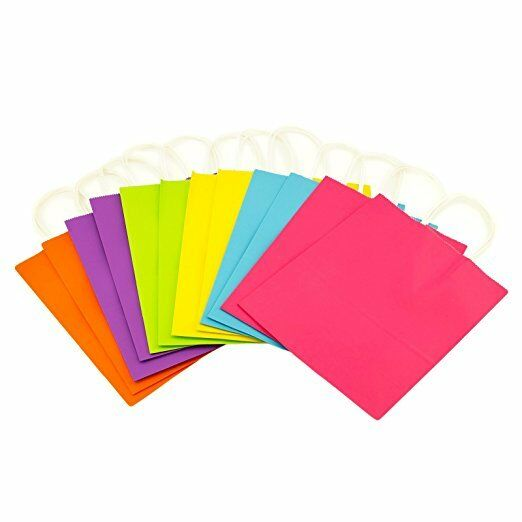 Kraft Paper Bags Gift Bags SMALL Colorful Solid Matte Colors