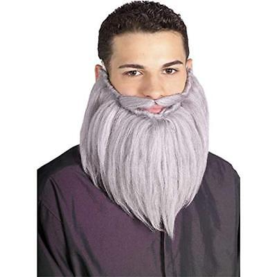 Duck Dynasty Costume Beard (Rubie's Grey Wizard Beard and Mustache Halloween Costume Duck Dynasty Cap)