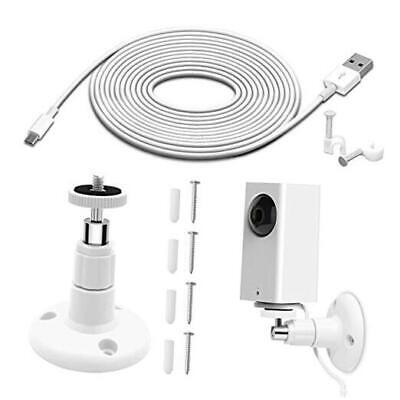 Wall Mount for Wyze Cam Pan Security Camera with 26FT Charging Cable, Wyze Cam