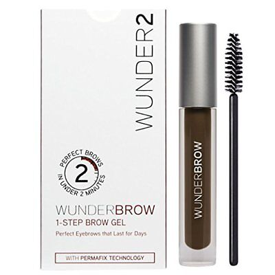 WUNDERBROW Eyebrow Gel, Semi Permanent Brows, Black/Brown
