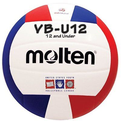 Set of 6 Molten VBU12 Light Volleyball (Red/White/Blue)