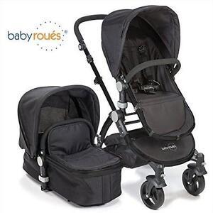 NEW* BABYROUES LETOUR II STROLLER - 121693069 - BLACK 3-IN-1 TRAVEL SYSTEM BABY INFANT BABIES STROLLERS BASSINET BASS...