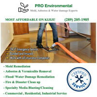 Asbestos, mold removal, Water damage Emergencies!