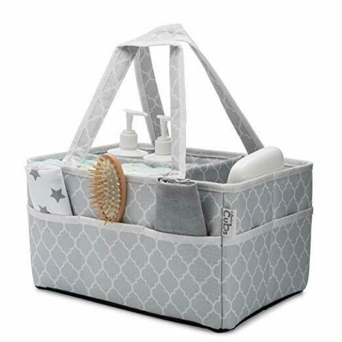 Baby Diaper Caddy Large Organizer Bag Portable Basket for Car Bedroom Travel