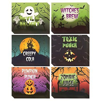 36 Pack Bottle Labels for Halloween Stickers Decorations for Soda - Halloween Labels For Bottles