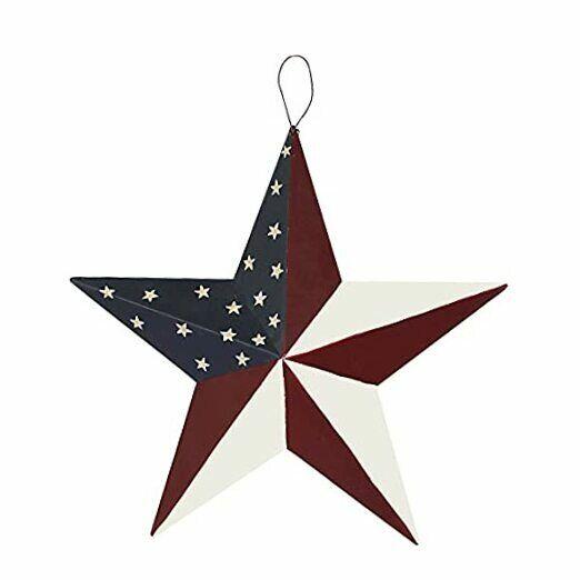 American Barn Star, Metal Patriotic Old Glory American Flag Barn Star S-stars